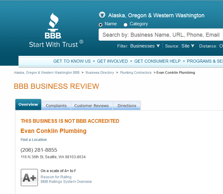 2015-02-25 14 55 33-Evan Conklin Plumbing Business Review in Seattle WA - Alaska Oregon and Wester